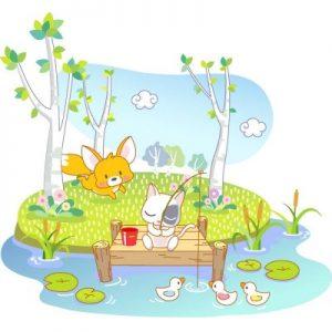 适合自闭症儿童的群体游戏:小猫钓鱼