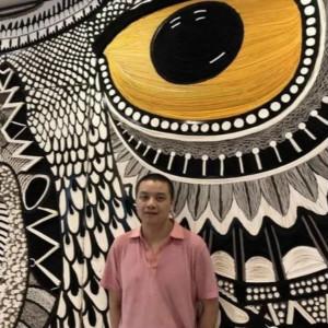 """自闭症画家尹铁淋作品亮相成都""""要有书""""艺术展(一)"""